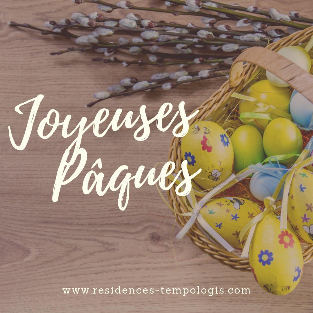 Joyeuses Pâques de la part de l'équipe Tempologis